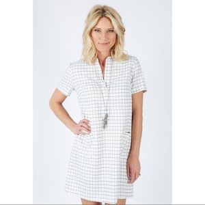 lumiere | window pane shift dress